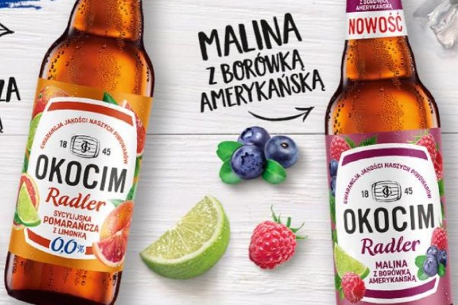 Malina i borówka amerykańska - nowy radler marki Okocim