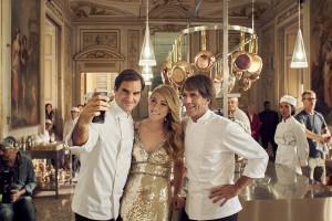 Roger Federer i David Oldani w kampanii makaronów Barilla