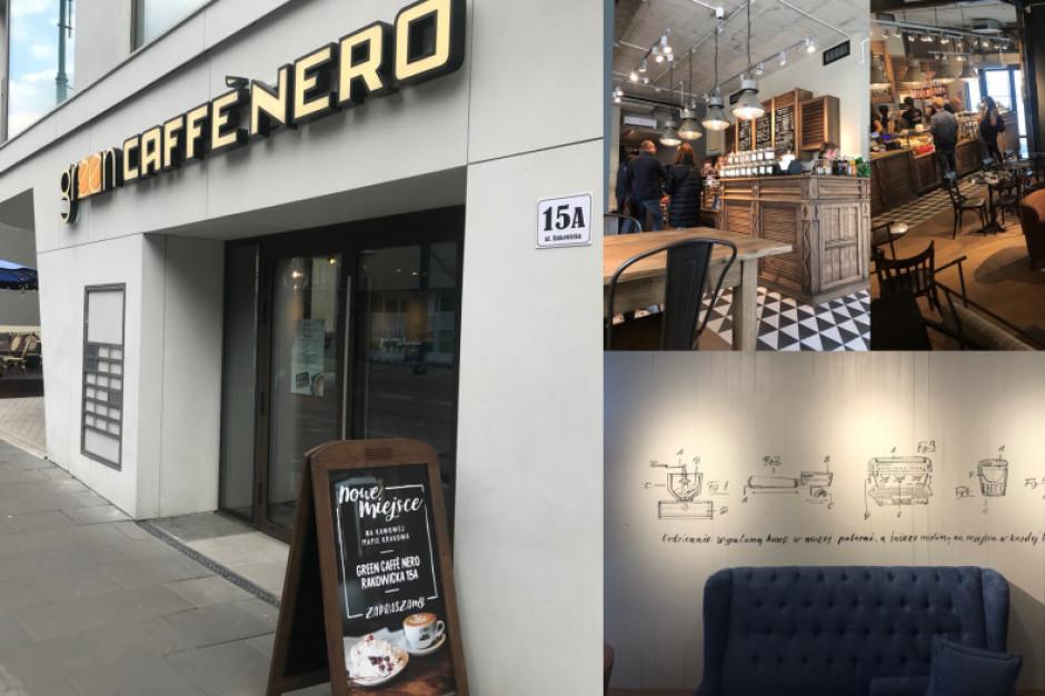 Green Caffè Nero z czwartą kawiarnią w Krakowie
