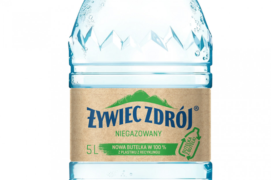 Żywiec Zdrój wprowadza pierwszą butelkę w 100 proc. z przetworzonego plastiku