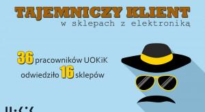 Tajemniczy klient - pracownicy UOKiK w sklepach z elektroniką