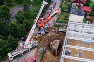 Sieć ALDI przeniosła zabytkowy schron w Rybniku (wideo)