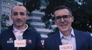 Robert Kubica i Maciej Kurzajewski w kampanii loterii Orlenu