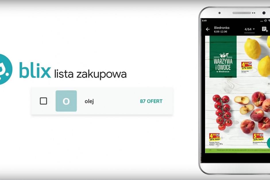 Blix pracuje nad nowymi funkcjonalnościami w aplikacji z listą zakupów