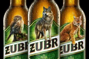 Butelki i puszki piwa Żubr... bez żubra
