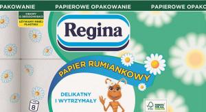 Regina Papier Rumiankowy w nowym opakowaniu z papieru