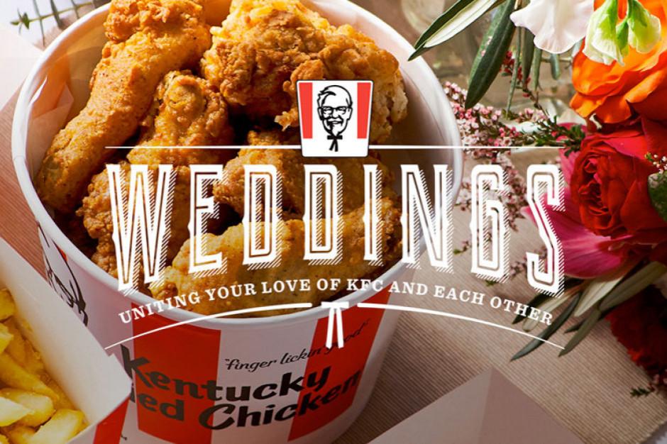 """KFC wprowadził do swojej oferty """"usługę weselną"""""""