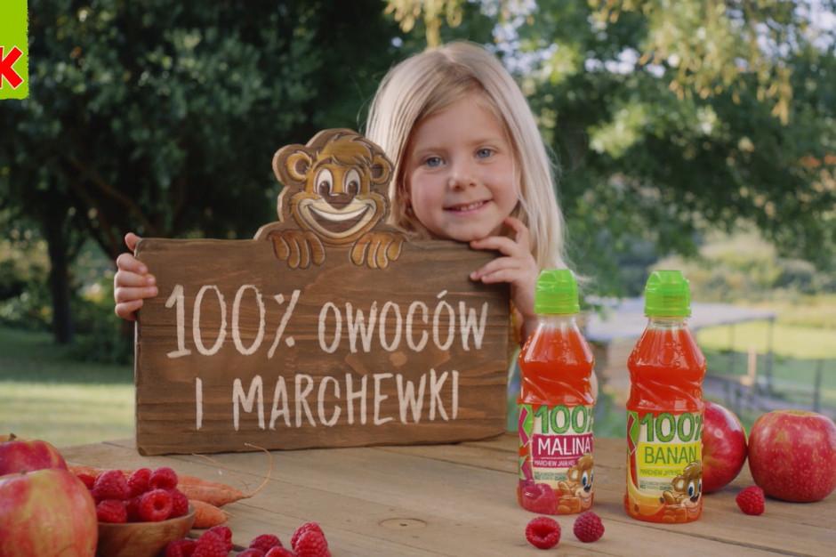 Marka Kubuś promuje swoje soki 100%