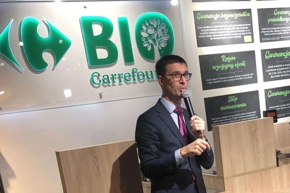 Carrefour ruszył z konceptem bio. Docelowo będzie oferowany we franczyzie