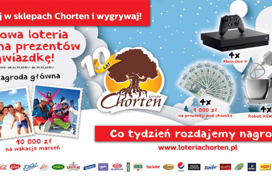 Chorten wspiera przedświąteczną sprzedaż zimową loterią