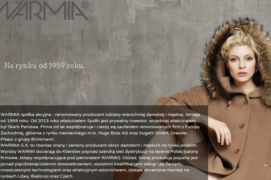 Po 60 latach z rynku znika firma odzieżowa Warmia