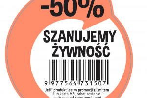 136 sklepów Biedronka przeceni żywność o 50 proc.
