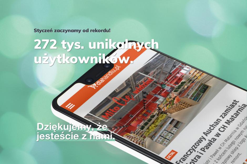 Styczeń rekordowy w dlahandlu.pl! Dziękujemy