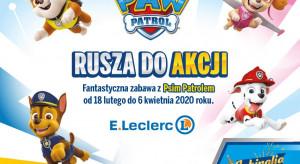 """E.Leclerc wspiera sprzedaż loterią z bohaterami z """"Psiego Patrolu"""""""