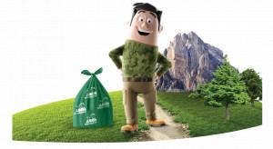 Jan Niezbędny wprowadza worki na śmieci z tworzywa z recyklingu