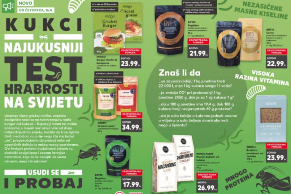 Żywność z owadów w chorwackich sklepach Kaufland