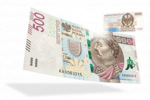 Banknoty o nominale 500 zł są już dostępne w wybranych bankomatach