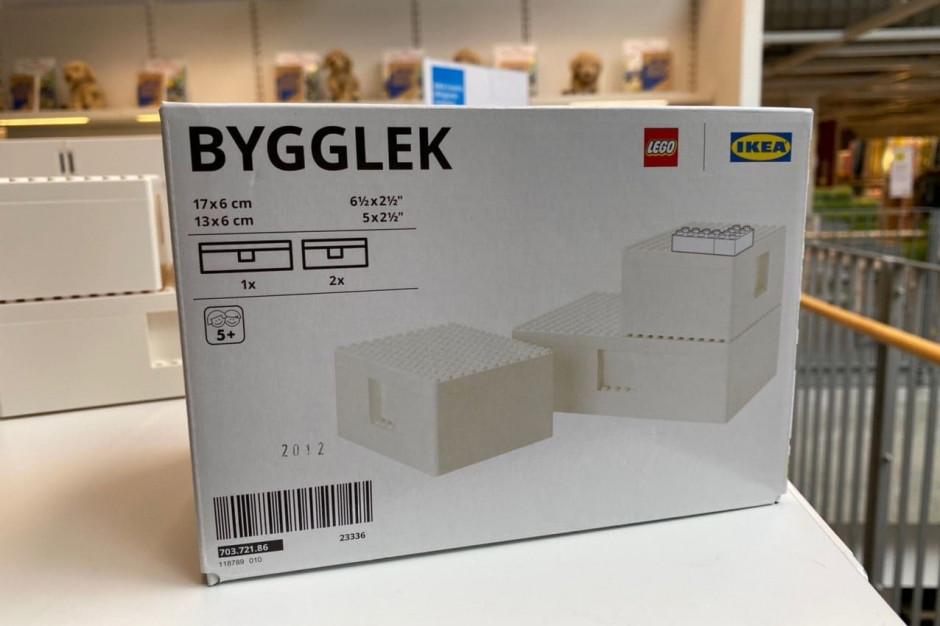 IKEA i LEGO ze wspólnym pudełkiem/zabawką