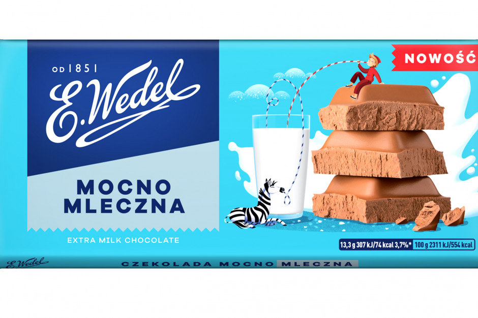 Rynek tabliczek czekolady wart 2,14 mld zł. Wedel wchodzi z linią Mocno Mleczna