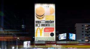 Mural McDonald's w centrum Warszawy