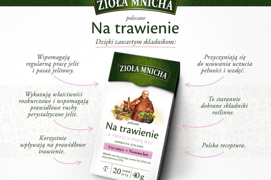 Herbatki ziołowe Zioła Mnicha w ofercie Herbapol