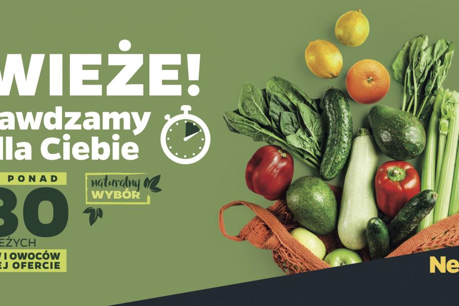 Netto: Co dwie godziny w każdym sklepie warzywa i owoce poddane zostaną kontroli świeżości