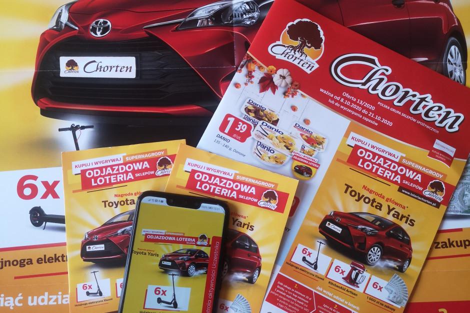 Chorten wspiera loterią konsumencką sprzedaż produktów marek producenckich