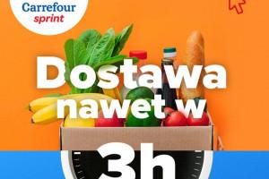 Dostawy zakupów w 3 godziny w nowej usłudze Carrefour Sprint