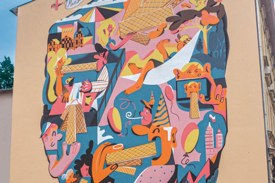 Wafle Familijne mają swój mural w Bydgoszczy