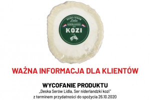 "Lidl wycofuje produkt ""Deska Serów Lidla, Ser niderlandzki kozi"""