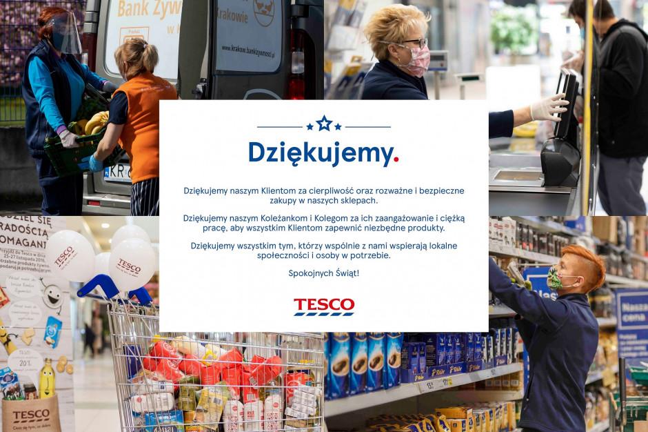 Tesco dziękuje w kampanii pracownikom i klientom