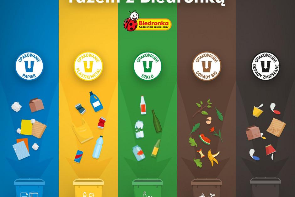 Biedronka: Na opakowaniach produktów pojawi się komunikat o segregacji śmieci