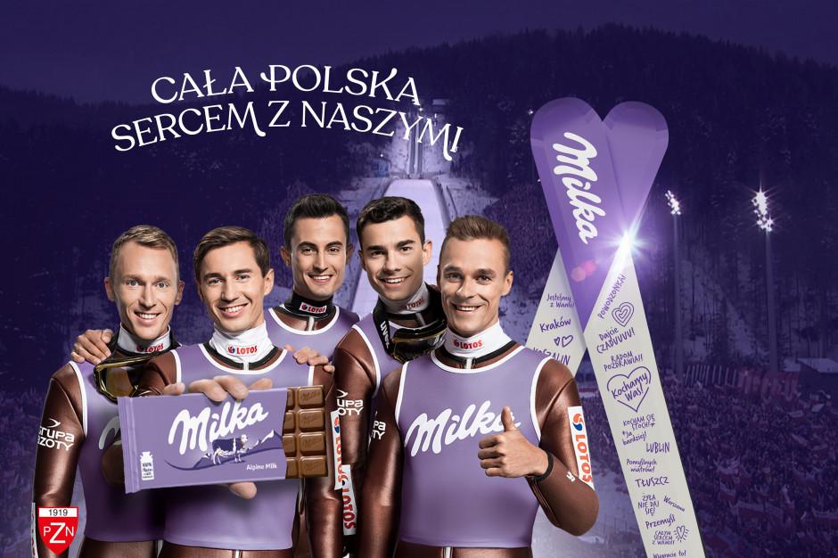 Milka kolejny raz zachęca do kibicowania skoczkom narciarskim