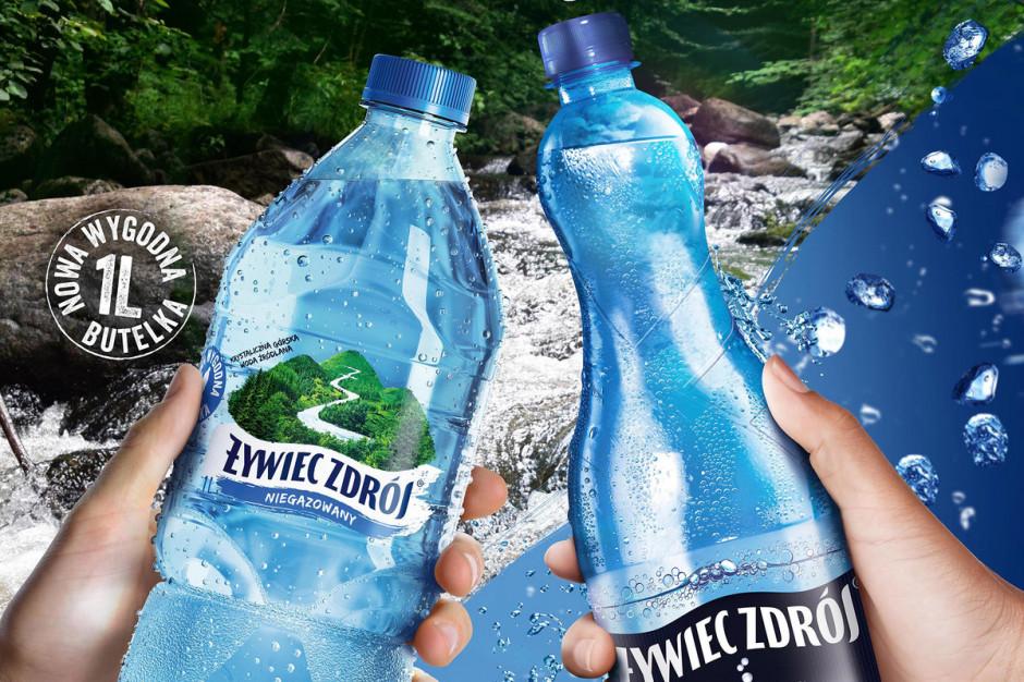 1-litrowe butelki od Żywiec Zdrój