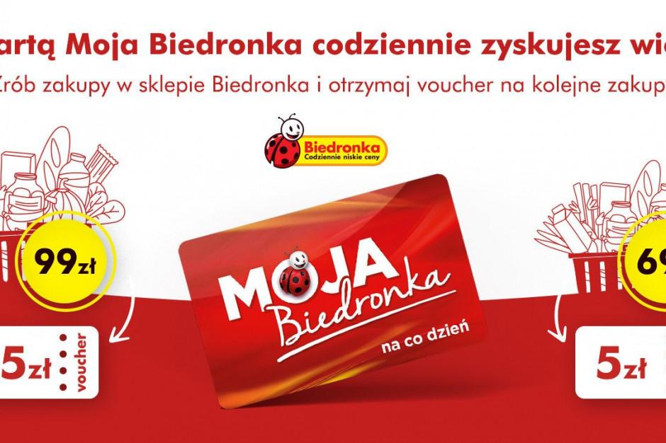 Voucher na 15 zł za zakupy za 99 zł z kartą Moja Biedronka