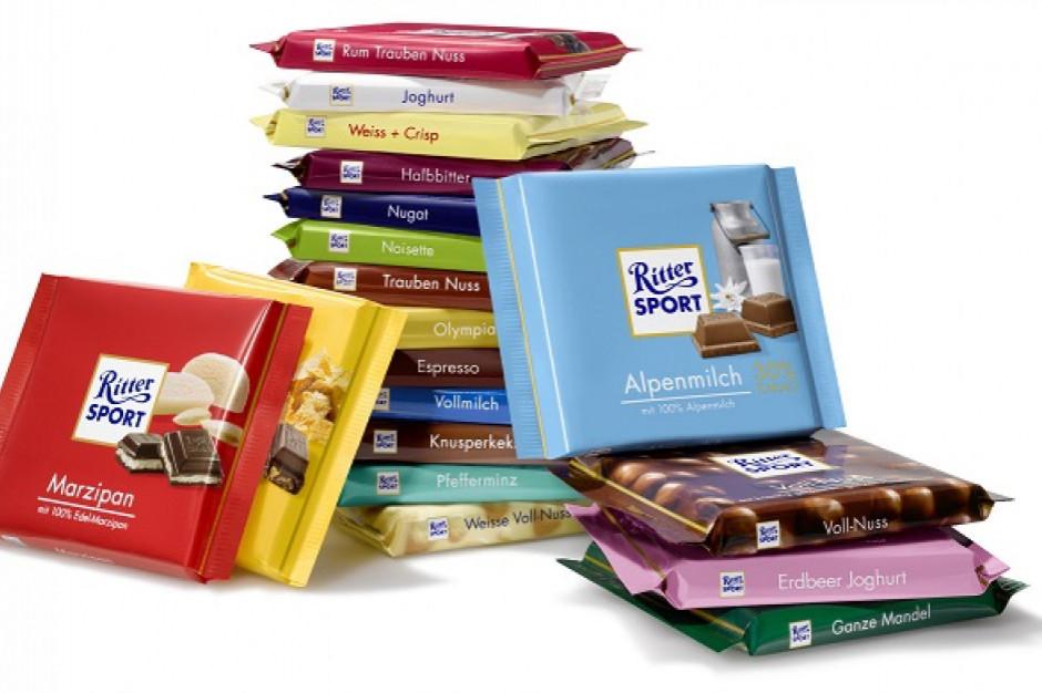 Ritter Sport nie może nazwać nowej czekolady czekoladą, bo nie ma w niej cukru