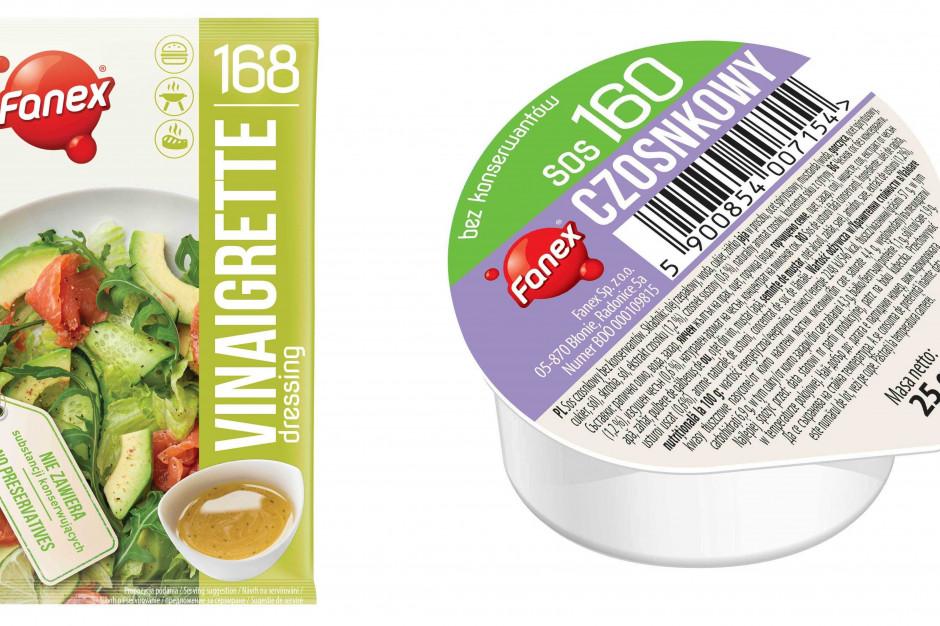 Nowe wersje majonezowych sosów Fanex w opakowaniach jednorazowych