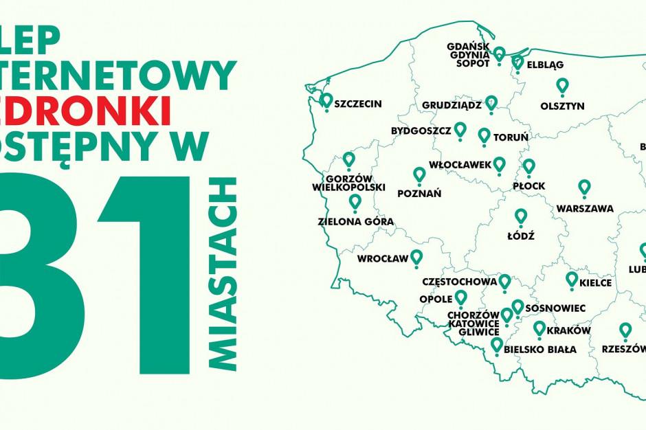 E-zakupy w Biedronce z Glovo w kolejnych czterech miastach