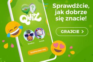 Aplikacja Tymbark Quiz promowana w interncie