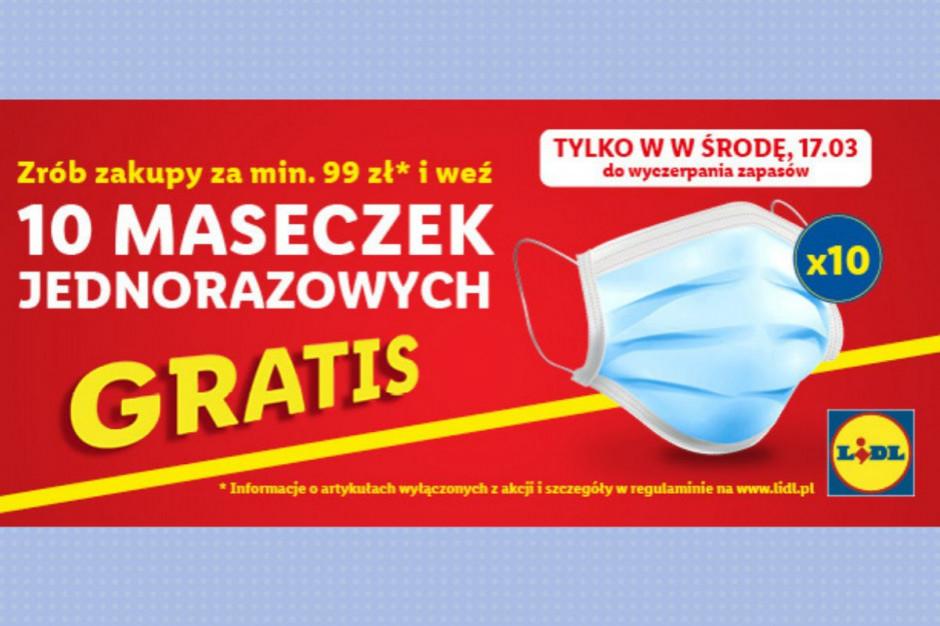 Promocja w Lidlu - darmowe maseczki za zakupy