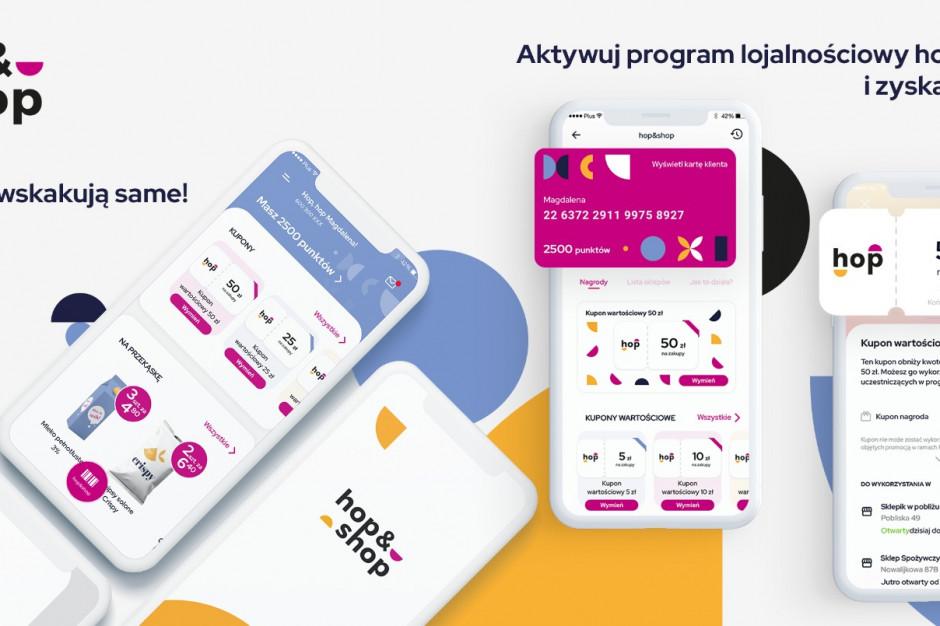 """""""hop&shop"""" – nowy program lojalnościowy w aplikacji mobilnej dla handlu tradycyjnego"""