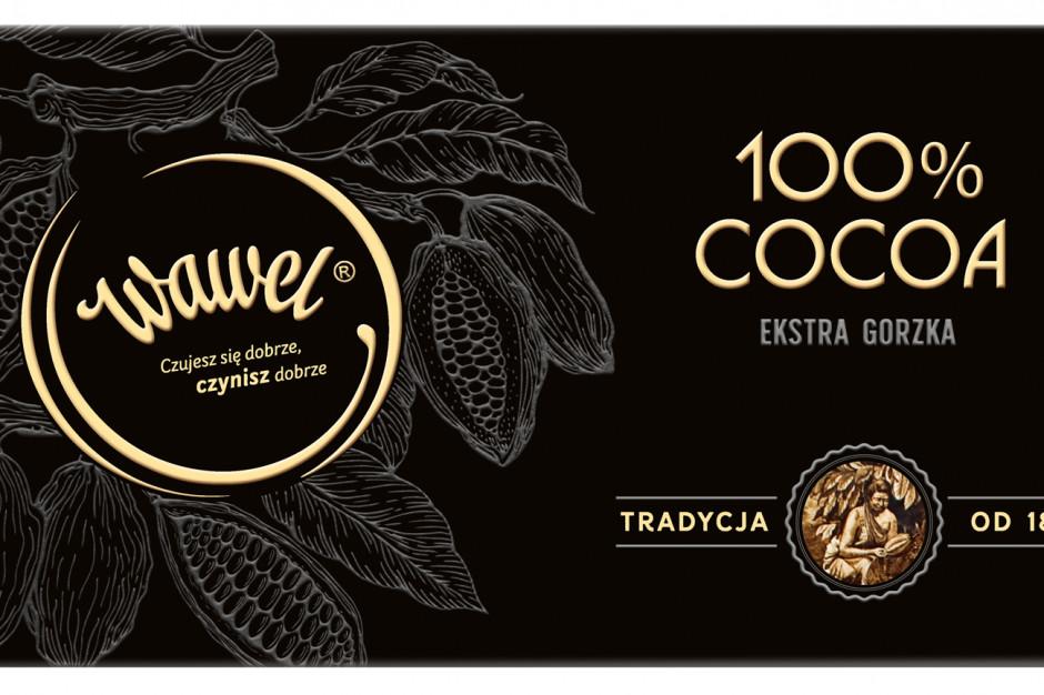 100% cocoa w gorzkiej czekoladzie z Wawelu