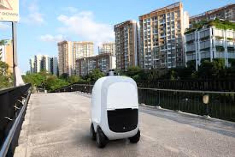 Roboty dostarczają zakupy do domów w Singapurze