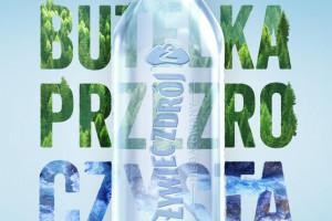 Żywiec Zdrój z butelką bez etykiety i w 100% z recyklingu