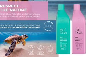 Marka kosmetyków Neboa w opakowaniach z plastiku wydobywanego z mórz