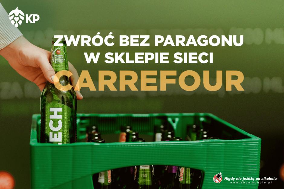Kompania Piwowarska i Carrefour razem w akcji zwrotu butelek bez paragonu