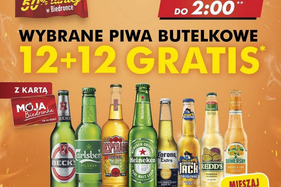 Biedronka z promocją na majówkę. 12 piw gratis!