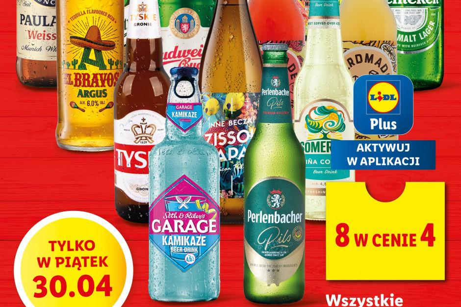 W Lidlu 8 piw w cenie 4