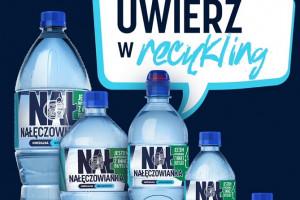 Nałęczowianka w butelkach w 50% z plastiku z recyklingu
