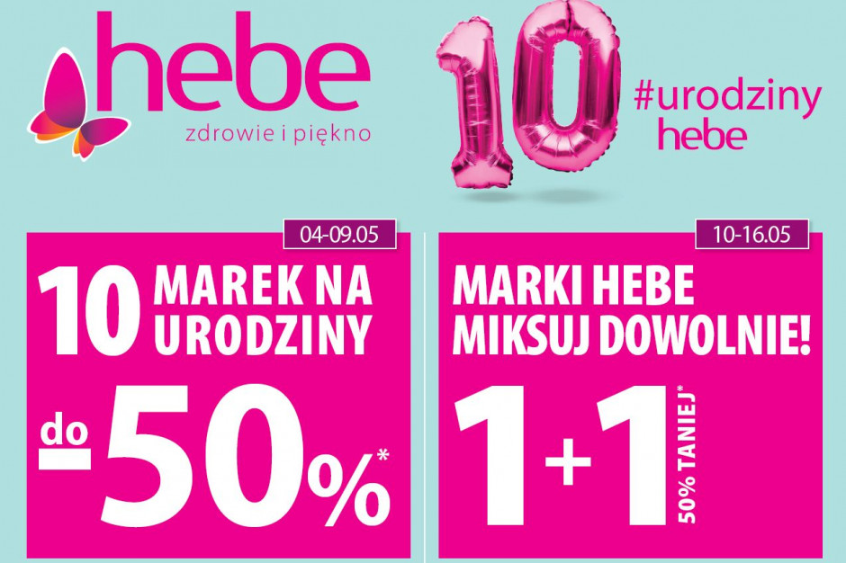 Hebe: 270 drogerii w 10 lat i promocje do - 50 proc.